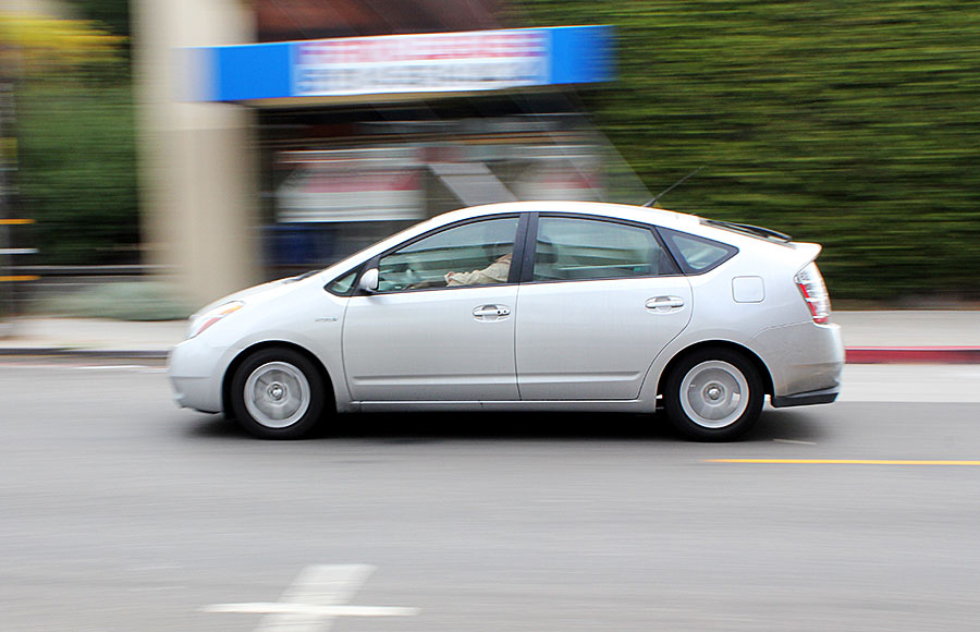 "A report released Sept. 10,  called ""Electric Drive By"" outlines policies that would promote the transition to electric vehicles in the state of California, such as the Prius pictured above."