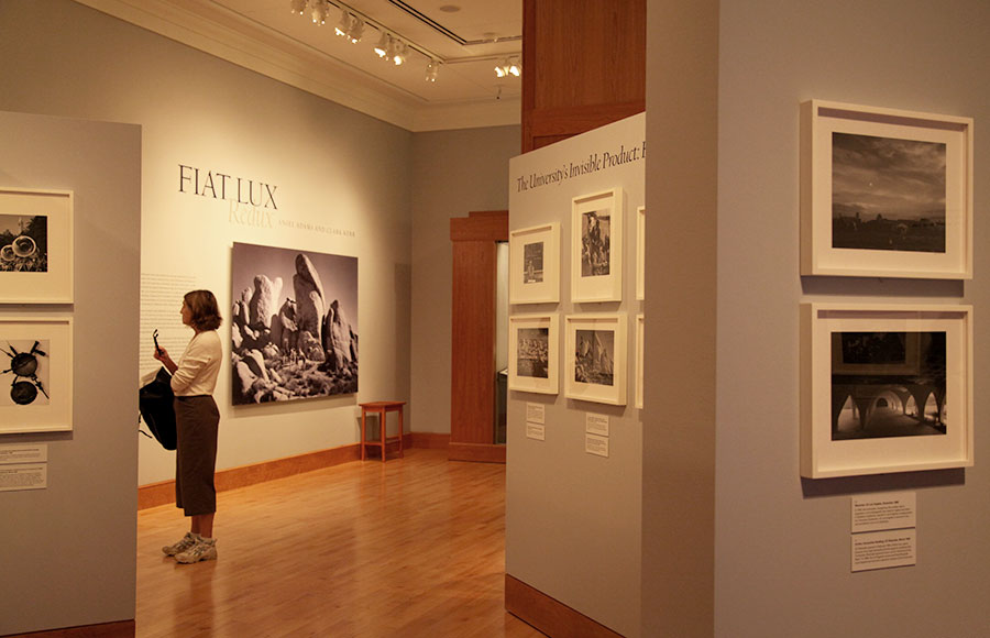 """Fiat Lux: Redux"" is a new exhibit on display in The Bancroft Library. The gallery features photographs Ansel Adams shot of the university in the 1960s."
