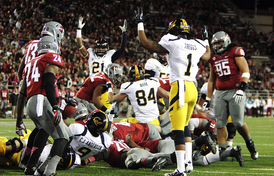 Cal's C.J. Anderson finished Saturday night's win over Washington State with two touchdowns and 112 yards rushing.
