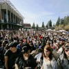 Protesters gathered in Sproul Plaza on November 9, 2011 - almost a year ago - in solidarity with Occupy Wall Street.