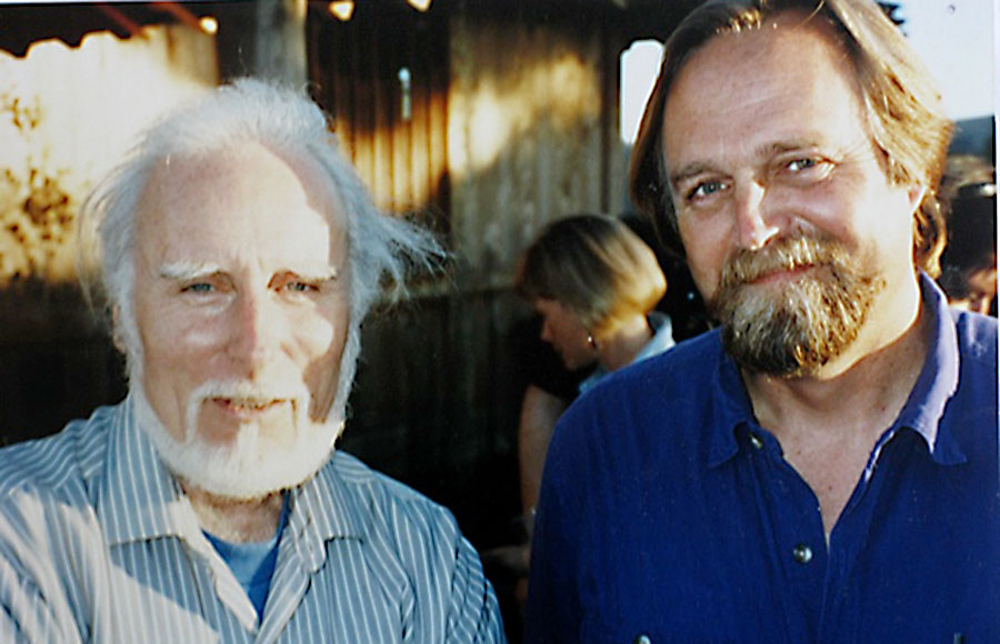 Jack Gilbert with his friend Bill Mayer in Napa in 1993.