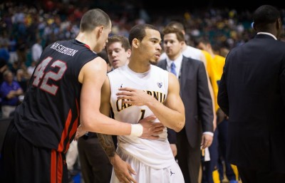 Justin Cobbs observes the scene after a stunning loss to Utah.