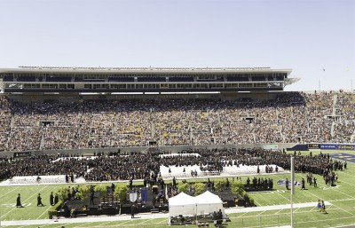 2013 Commencement at Memorial Stadium
