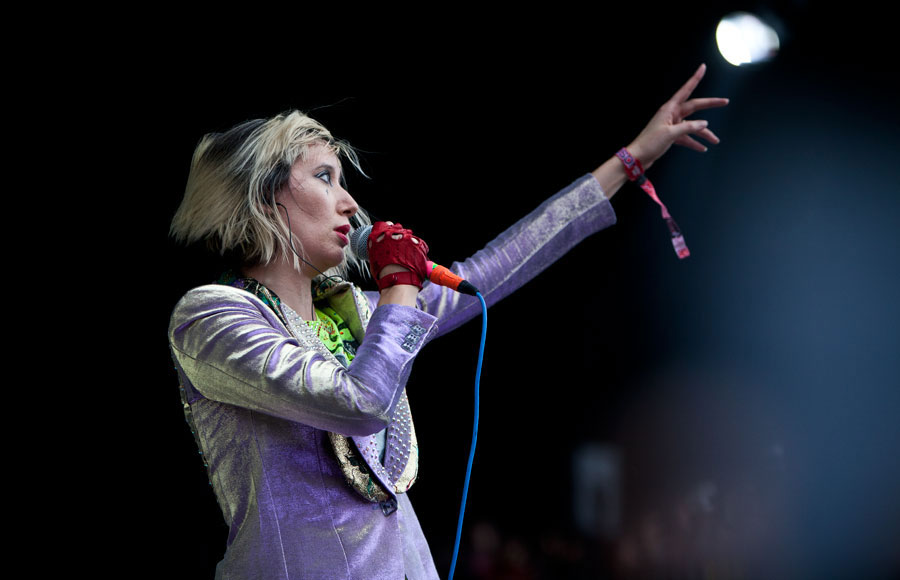 Karen O. (above) of the Yeah Yeah Yeahs one of the most anticipated performers billed for FYF Fest this weekend. The edgy pop-punk band will be closing out the festival on Saturday.