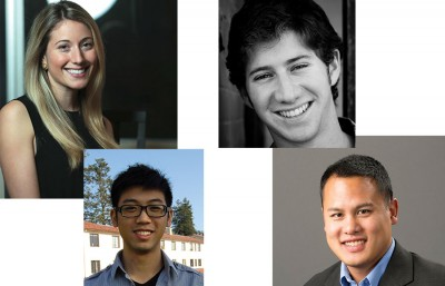 (Clockwise from top left) Mediha Abdulhay, Jeremy Fiance, Ryan Jung and Rick Ling are members of the Dorm Fund's investment team.