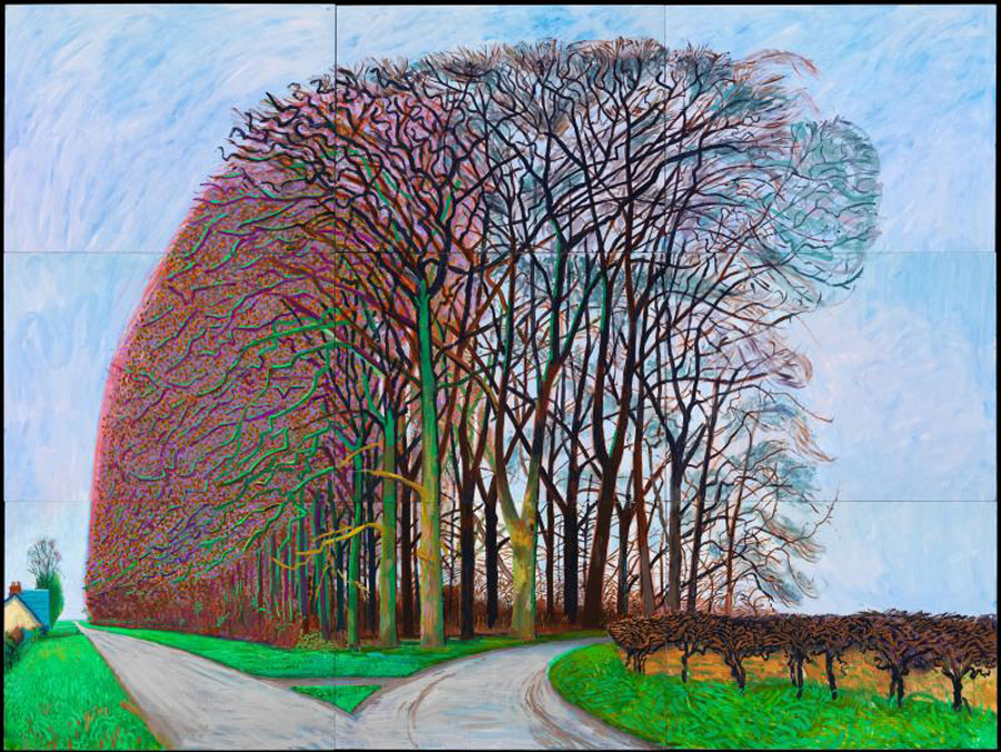 Artist david hockney shows style changing with times in for David hockney painting
