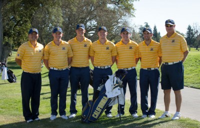 2013 Alister MacKenzie Invitational Champions (from left to right: Associate head coach Walter Chun, Michael Weaver, Brandon Hagy, Pace Johnson, Brandon Hagy, Keelan Kilpatrick, Joël Stalter, head coach Steve Desimone).