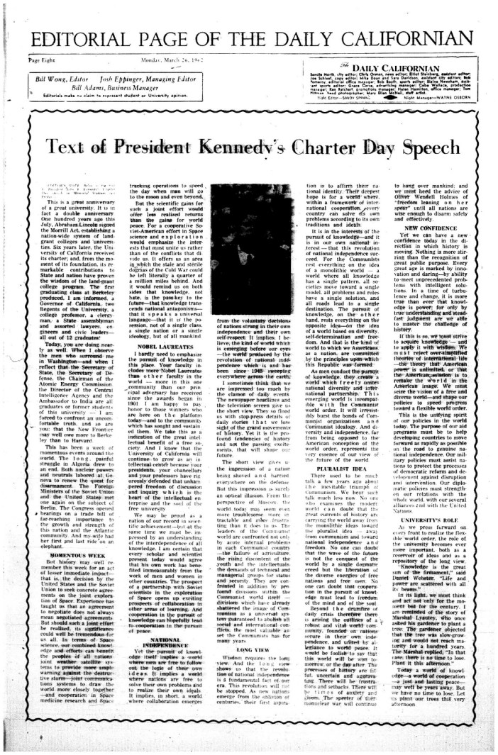 JFK speech