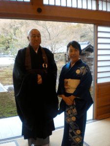 Buddhist monk and the woman who did the tea ceremony in Kamakura.