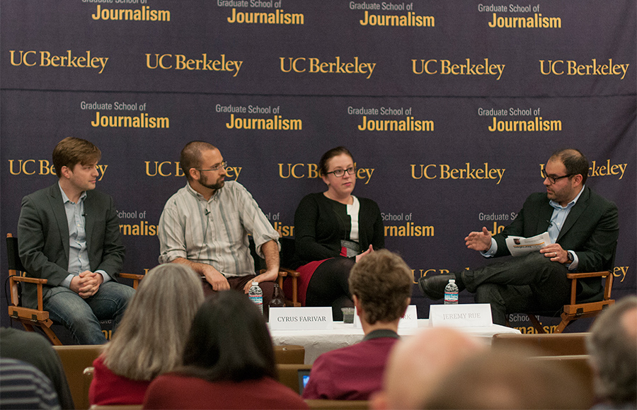 A panel of journalism industry professionals spoke about maintaining confidentiality and protecting the   identities of sources and reporters Wednesday night at the campus Graduate School of Journalism.