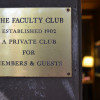Faculty club plaque