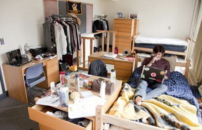 Freshman-Myles-Blackwell-lives-in-a-study-lounge-in-Unit-2-which-had-been-turned-into-a-quad-dorm-room.