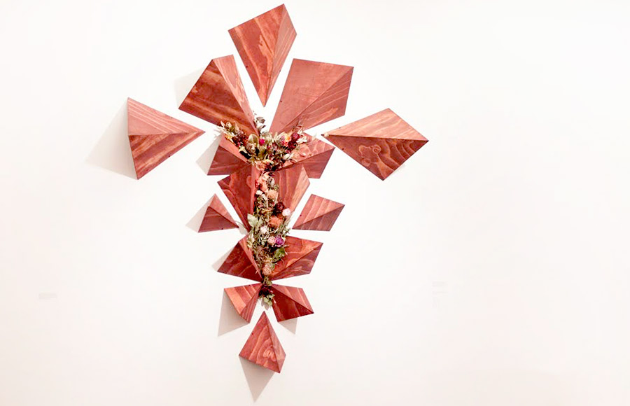 "UC Berkeley senior Alissa Dawson's mixed media sculpture titled ""Maybe it's Maybelline."""