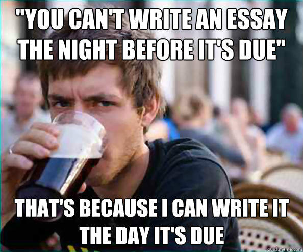 Easy way to write an essay meme