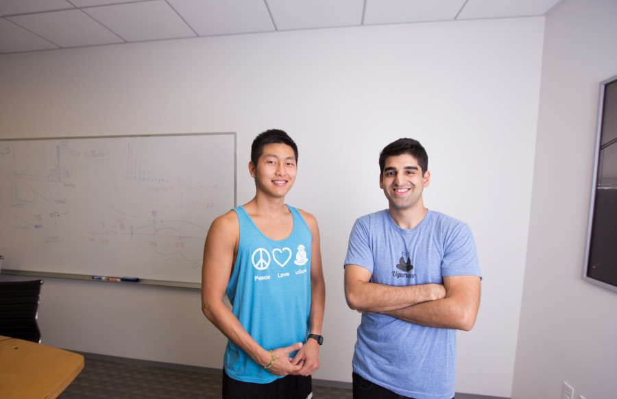 Michael Koh and Samir Makhani, co-founders of tutoring service uGuru
