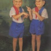 The Tweedledee and Tweedledum costumes were manufactured in France in the 1960s and found in New Jersey.