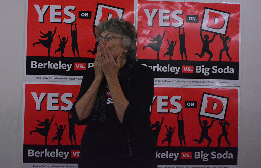 Linda Maio waited in the Yes on D campaign headquarters for the results of the election.
