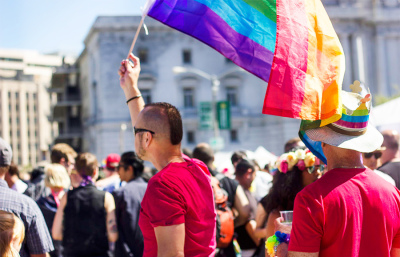 The San Francisco Pride Celebration and Parade is one of the largest LGBT people and allies event in the nation. This years festivities, held on the weekend of June 28, included over 200 parade contingents, 300 exhibitors, and more than twenty community-run stages and venues.