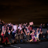 Traffic was halted on interstates 80 and 580 at University Avenue for more than two hours during the third night of protests on Dec. 8.