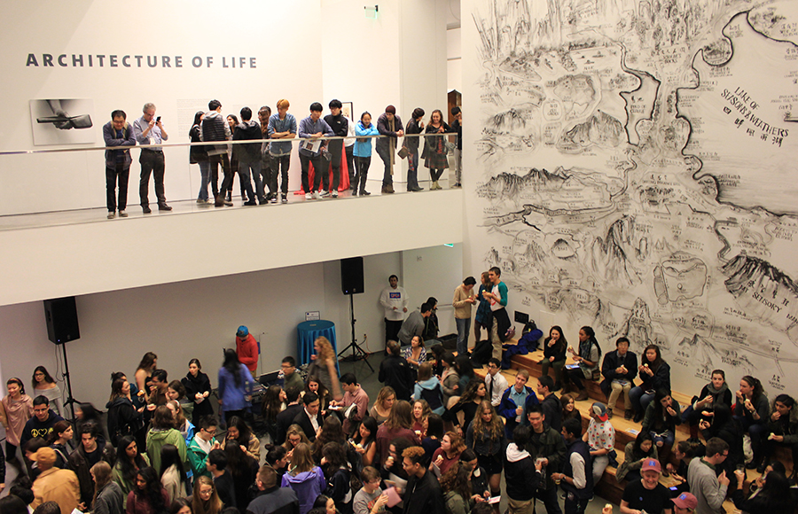 BAMPFA's student opening draws crowds for art, festivities