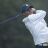 Fairfax, California - October 14, 2014:  Cal Men's Golf during the 2014 Alister MacKenzie Invitational at the Meadow Club in Fairfax California.