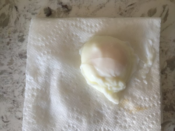Egg on towel