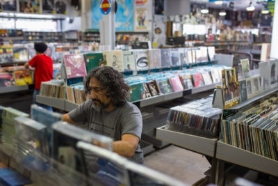 Andrew Gilbert, a freelance music writer, visits the East Bay location every three to four months for a music splurge.