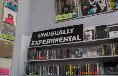 Amoeba Music features a section dedicated entirely to experimental tracks.