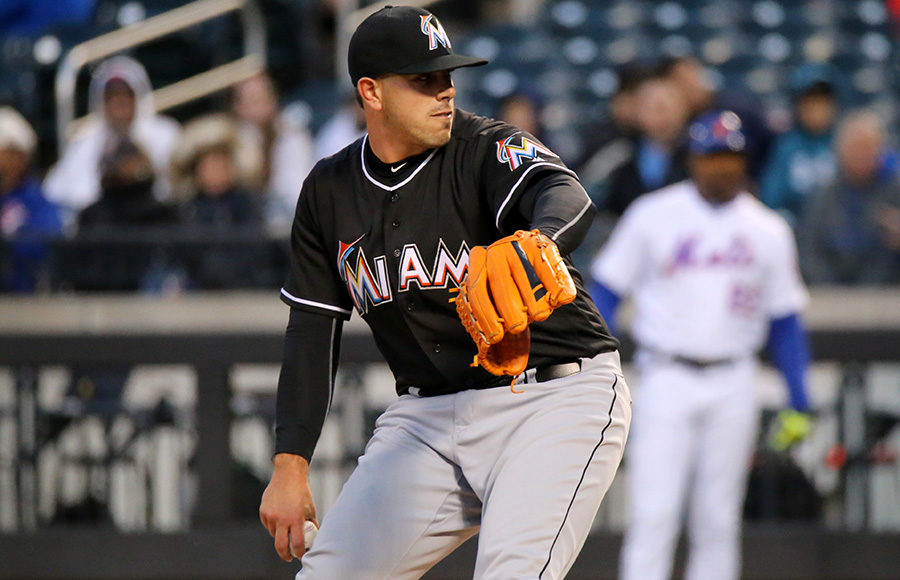 Marlins starter Jose Fernandez delivers a pitch in the first inning.