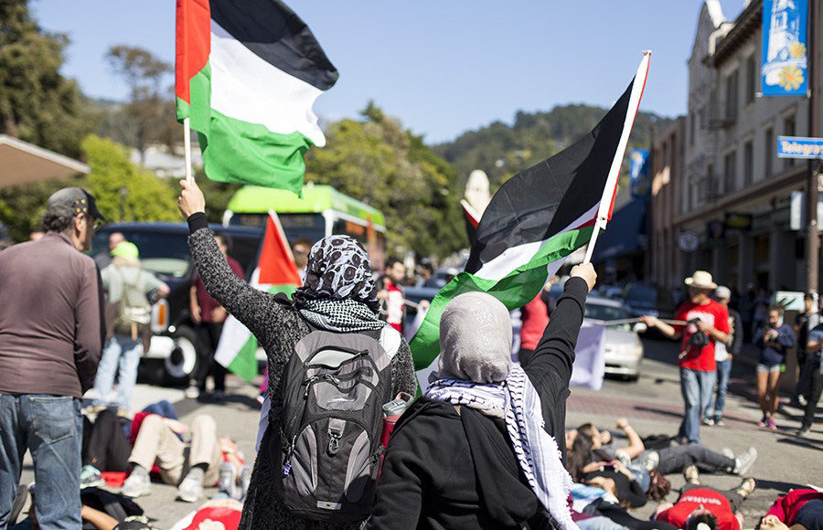 "Hate speech posters alleging the group Students for Justice in Palestine was connected to a ""terror organization"" were plastered around campus on Thursday by the David Horowitz Freedom Center."