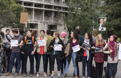Students staged a walkout of Nezar AlSayyad's course in Wurster Hall in the wake of allegations that the professor sexually harassed a graduate student.