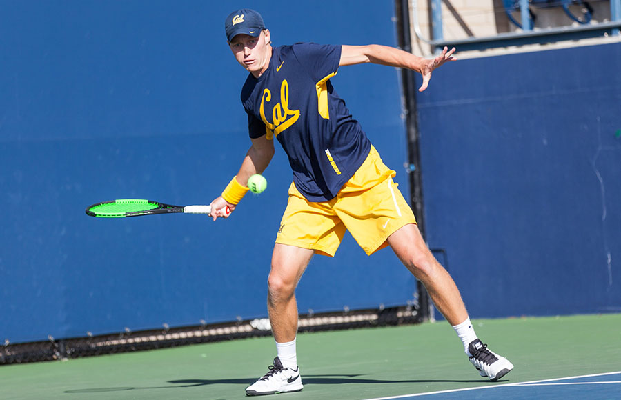 No. 4 Cal men's tennis clinches spot in ITA indoors tournament