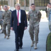 President Donald Trump and Gen. Joseph Votel, commander of U.S. Central Command Commander, meet with service members at MacDill, AFB, FL, Feb. 6, 2017.   (DoD photo by D. Myles Cullen/Released)