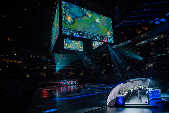 Samsung Galaxy versus SK Telecom T1 at the 2016 World Championship - Finals at STAPLES Center in Los Angeles, California, USA on 29 October 2016.