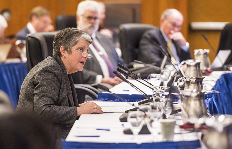 Janet Napolitano Catches Heat From UC Board of Regents