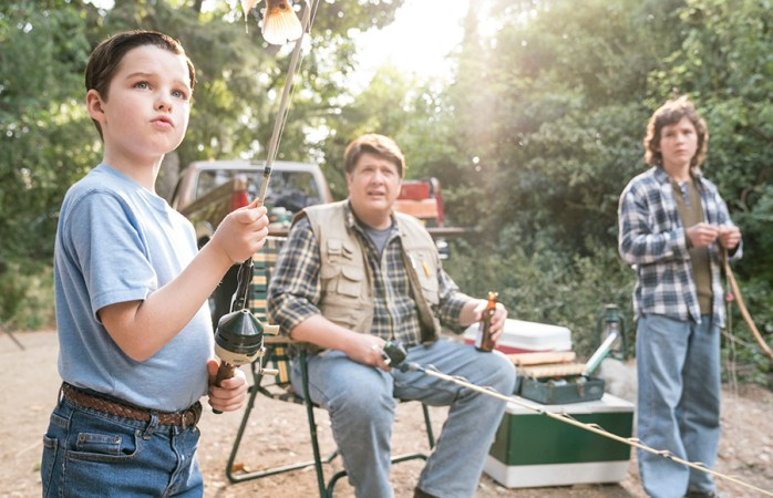 """Young Sheldon"" played up its central father-son relationship, as the main characters go on a road trip."