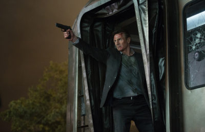 "Liam Neeson as ""Michael"" in THE COMMUTER."