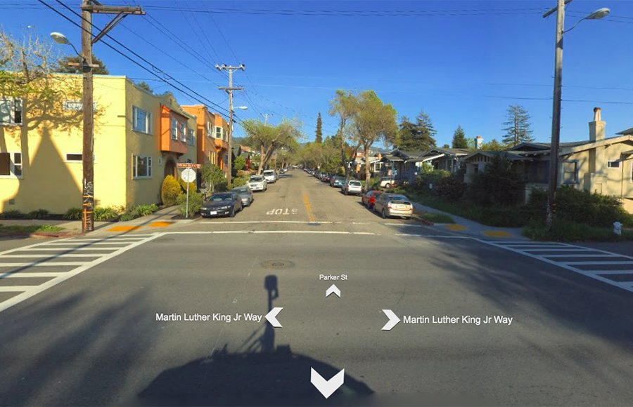 Street view of an intersection