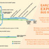 Map of early bird express bus routes