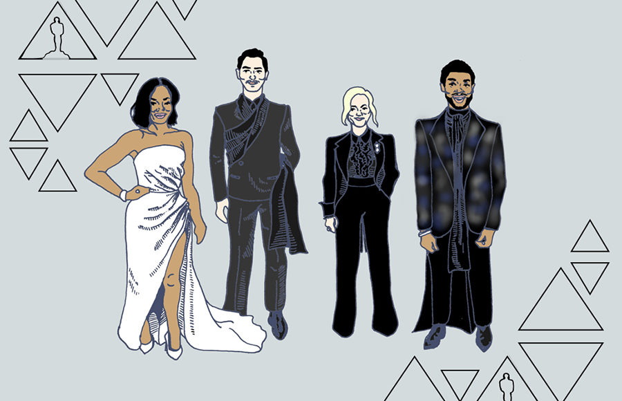 Oscars outfits of Regina King, Chadwick Bozeman, Amy Poehler and Nicholas Hoult