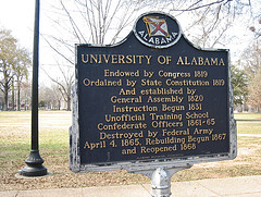 University of Alabama historical marker