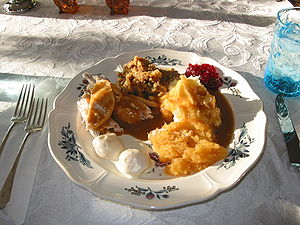 Thanksgiving Dinner, Falmouth, Maine, USA 2008 (Photo credit: Wikipedia)