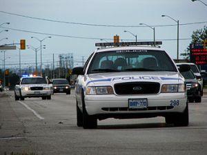 English: Peel Region Police cars in Malton, Canada (Photo credit: Wikipedia)
