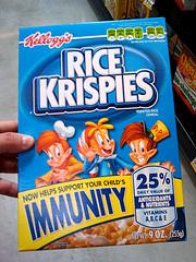 Rice Krispies: Snap, Crackle & Immunity (Photo credit: Bukowsky18)