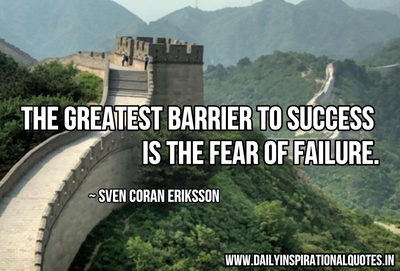 the greatest barrier to success is success quotes