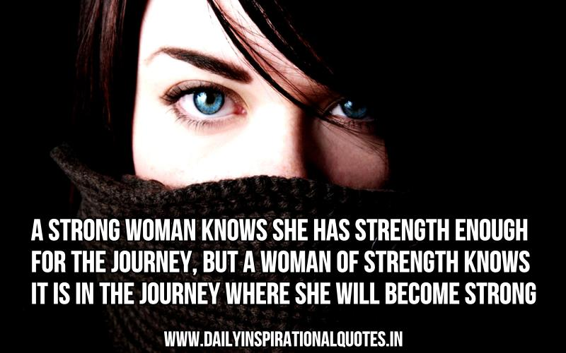 a strong woman knows she has strength inspirational