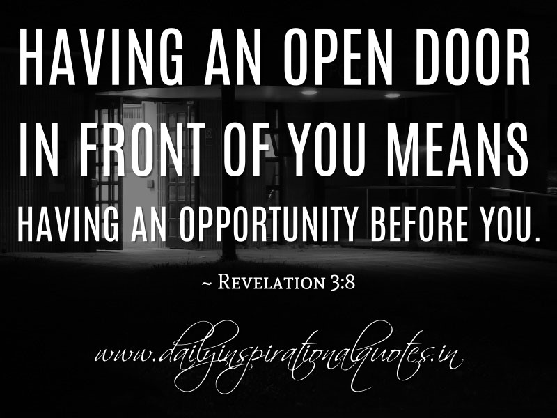 Antigue Door With Quote : Open door quotes inspiration quotesgram