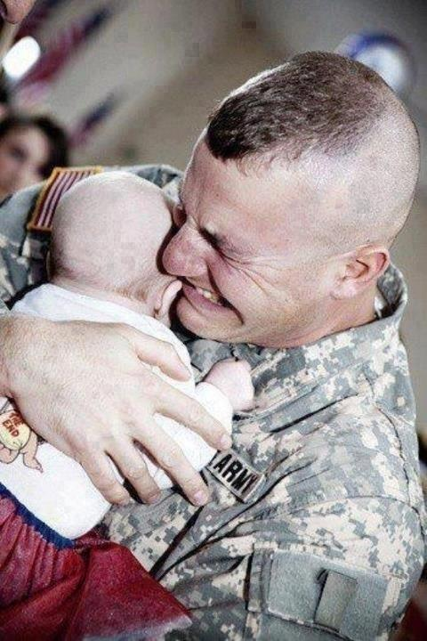 When a soldier met his baby girl for the first time
