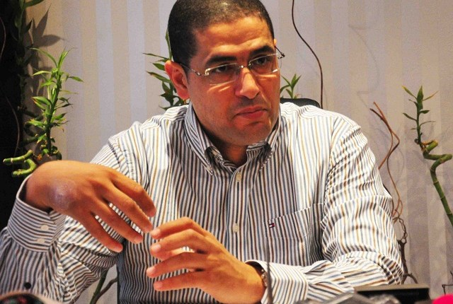 Mohamed Abu Hamed talks to the DNE at his Mohandessin office