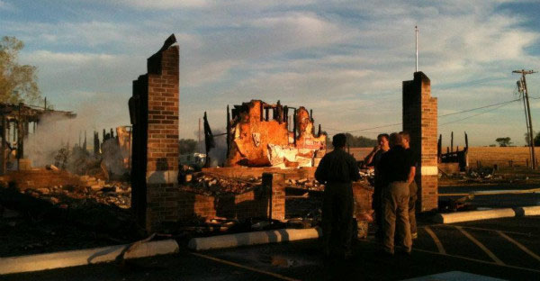 The remains of the Islamic Society of Joplin mosque in Missouri